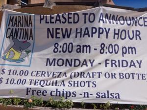 Welcome to the Marina Cantina!