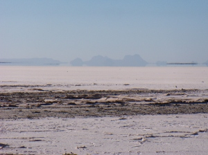 the salt flats - two meters below sea level
