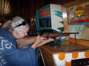 I practice my marksmanship at the the penny arcade in Manitou Springs