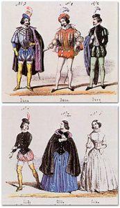 premier costumes, 1851