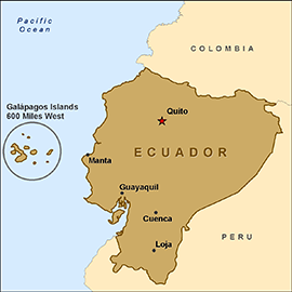 The Galapagos - 500 miles west of Equador