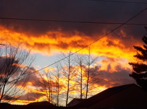 Westcliffe sunrise. Every dawn we hover  between light and dark