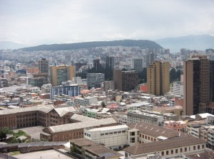 Quito as seen from the National Basilica