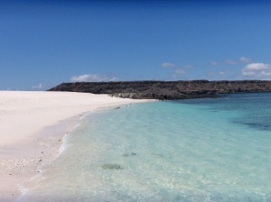 Blue on blue - white sand is ground coral