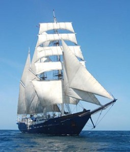 The Mary Anne - a sailor's delight with 1,000 square meters of canvas and only 14 passengers.