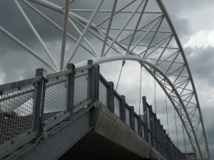 Leading Lines - pedestrian bridge over Platte River, Denver