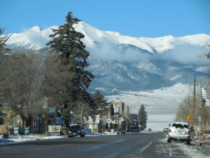 Main Street, Westcliffe - a meeting and greeting place.