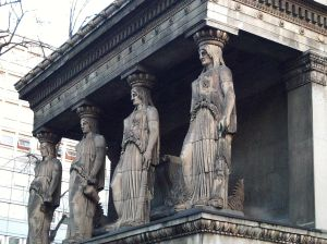 Heavy on the Head Caryatids at St Pancras New Church, Greek Revival 1819.