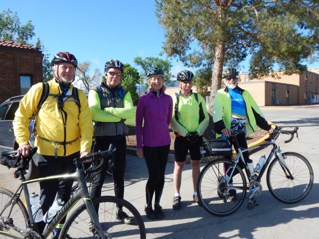 left to right: Brent Bruser, Jim Remington, Lori Fox, John Potts, and Mark Dembosky