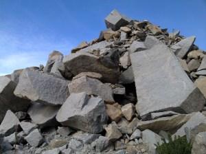 White Granite quarry down McCoy Gulch.