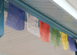 Tibetan prayer flags activated by the wind send spiritual vibrations out to the Four Corners