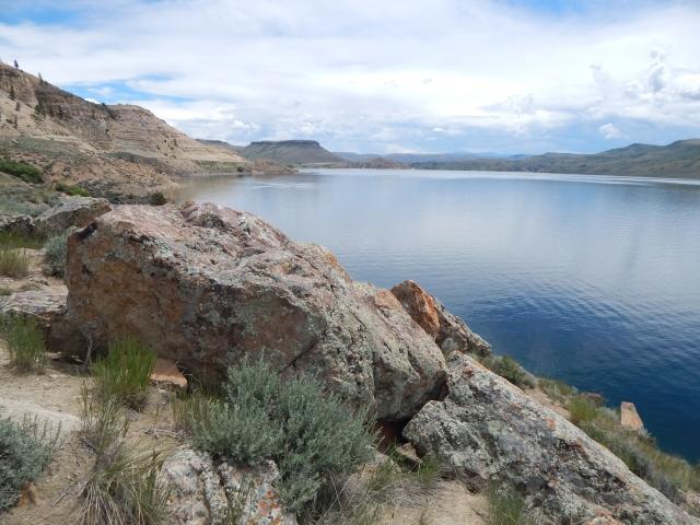Looking east along Blue Mesa