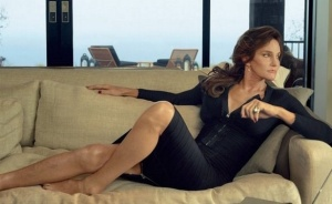 Caitlyn looks sultry in a dress zippered front and back for easy access.