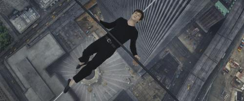 Philippe Petit, a man who knew about finding the balance. Pictured here taking his ease on a cable stretched between the Twin Towers in 2008.