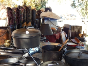 What's more Farmers' Market than old cast iron lovingly restored by by Patty Delin?
