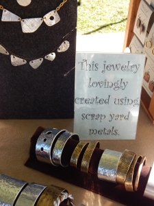 Recycled scrapyard metal - seriously cool jewelry crafted by Ed and Leah Tuter, Cotopaxi