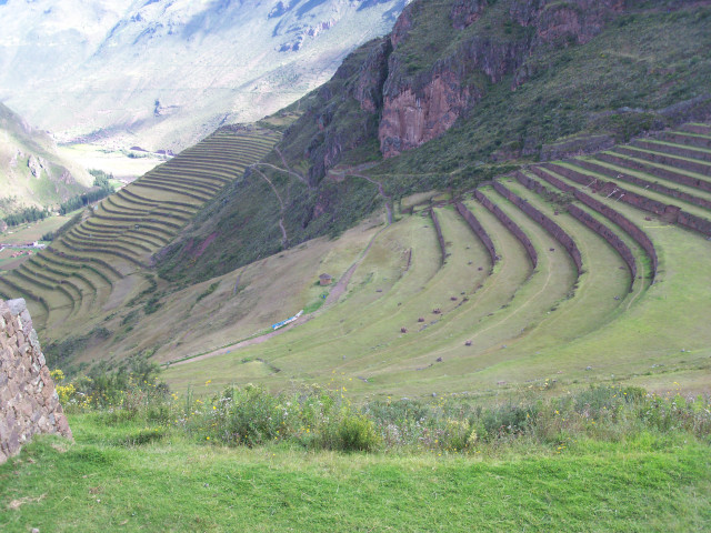 Terracing in Peru. If you missed my Peru blogs, go back to reading between April 16 and May 19 of 2011.
