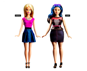 new and old barbie